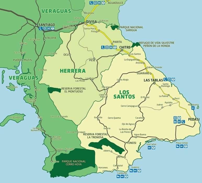 Azuero Peninsula in Panama
